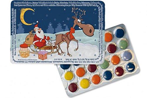 Kleinster Adventskalender der Welt 'Geschenkeschlitten', Kalender Weihnachtskalender