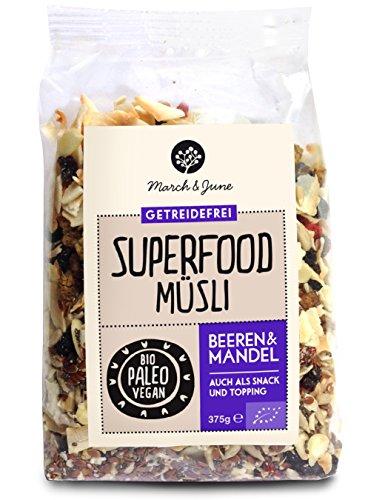 March&June Bio Superfood Müsli Beeren Mandel 375 gr