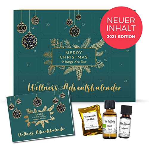 Adventskalender Frauen Wellness 2021 Edition, Neuer Inhalt - mit Naturkosmetik, Duftware und Deko, Entspannung Weihnachtskalender für Frauen mit 24 Überraschungen