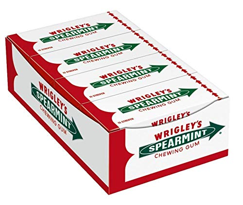 Wrigley's Spearmint Kaugummi   Minz-Geschmack   8 Packungen (8 x 15 Streifen)