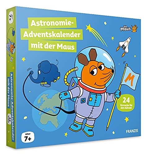 FRANZIS 67162 - Maus Astronomie Adventskalender 2021, 24 Versuche und Forschungsideen zum Entdecken, Staunen und Lernen, für Kinder ab 7 Jahren