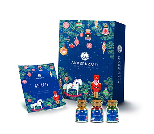 Ankerkraut Premium Adventskalender 2020, der Klassiker von Ankerkraut | 24 Gewürz-Überraschungen für die Weihnachtszeit | 1,5 kg Gewürz-Kalender als Geschenk für Männer und Frauen