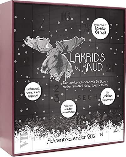 Lakrids Knud | Lakritz Adventskalender 1200 g - JETZT NEU MIT 1200g LAKRITZ - 24 verschiedene Lakritz Sorten - Lakritz mit Schokolade - süße und salzige Lakritz