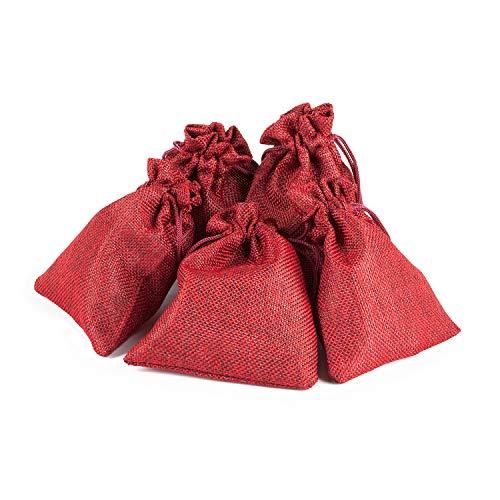 pajoma Adventskalender zum Befüllen 24 Jutebeutel rot Geschenksäckchen Stoffbeutel Weihnachten, Weihnachtskalender Bastelset