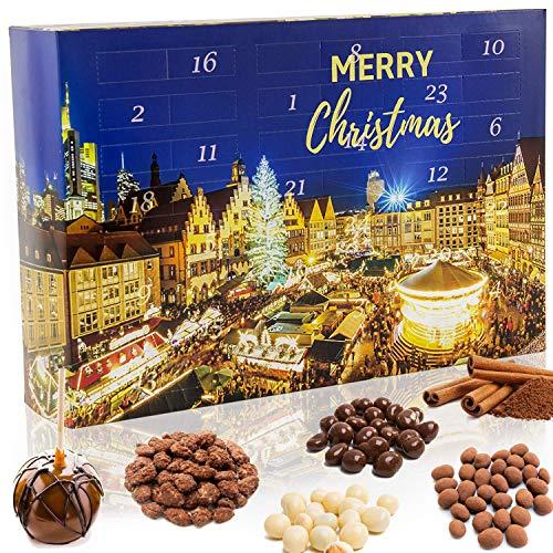 C&T Snack Adventskalender 2020 'Weihnachtsmarkt' | 24 Süßigkeiten wie man sie vom Weihnachtsmarkt kennt | Knusper Weihnachtskalender mit vielen Knabbereien
