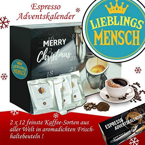 Lieblingsmensch - Advent Kalender Espresso - Kalender Advent Frauen Kalender Advent Männer Kalender Advent Kaffeebohnen Adventskalender Espresso Adventskalender Espresso