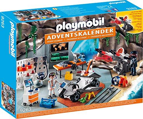 Playmobil Adventskalender 9263 Spy Team Werkstatt mit Superwaffe inkl. Laser und Aufklärungsdrohnen, Ab 4 Jahren