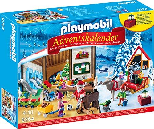 Playmobil Adventskalender 9264 Wichtelwerkstatt mit funktionsfähiger Laterne, weihnachtlichen Figuren und Zubehörteilen, Ab 4 Jahren