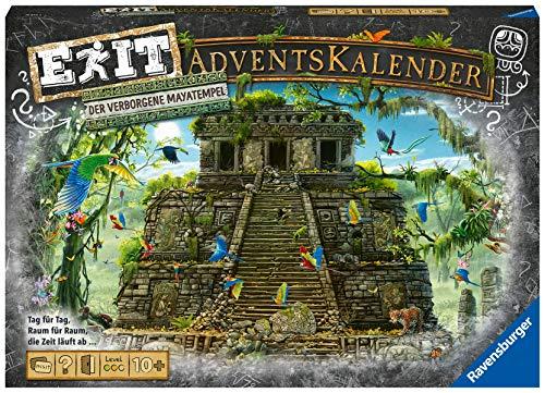 Ravensburger 18956 - EXIT Adventskalender - Der verborgene Mayatempel - 24 Rätsel für EXIT-Begeisterte ab 10 Jahren