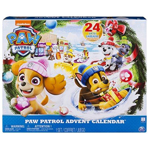 PAW Patrol Adventskalender 2018 - 24 Überraschungen - hochwertige Kunsstoff Figuren und Zubehör
