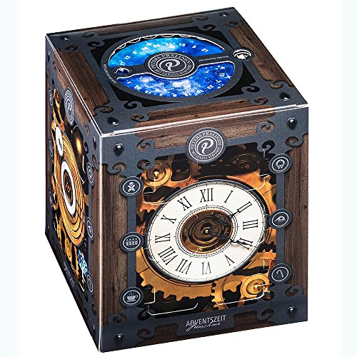 Peters - Adventskalender Advents-Zeitmaschine Pralinen Trüffel Confiserie - 300g | Zeitmaschinen-Adventskalender