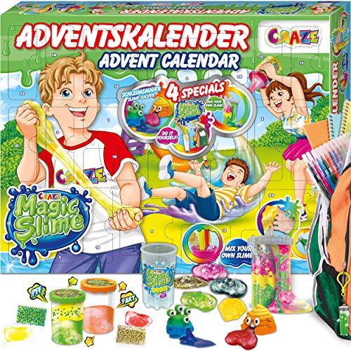CRAZE Adventskalender 2020 MAGIC SLIME Schleimlabor Weihnachtskalender kreiere deinen eigenen Schleim kreativer Spielspaß für Kinder und Jugendliche 24737