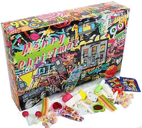 C&T 90er Süßigkeiten Adventskalender 2020   24x Retro Candy der neunziger Jahre   Vintage Nostalgie Weihnachts-Kalender mit Süßigkeiten aus der Kindheit…