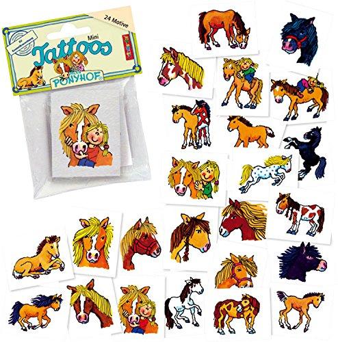 Lutz Mauder 47306 Mini-Tattoo-Set Pferd Mein Ponyhof, 24-tlg.