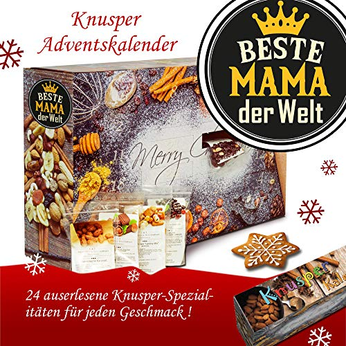 Beste Mama der Welt | Knabbereien Adventskalender | Advent Kalender für Mutter Advent Kalender Frauen Advent Kalender Mutti Advent Kalender Knabbereien Advent Kalender Knabbereien