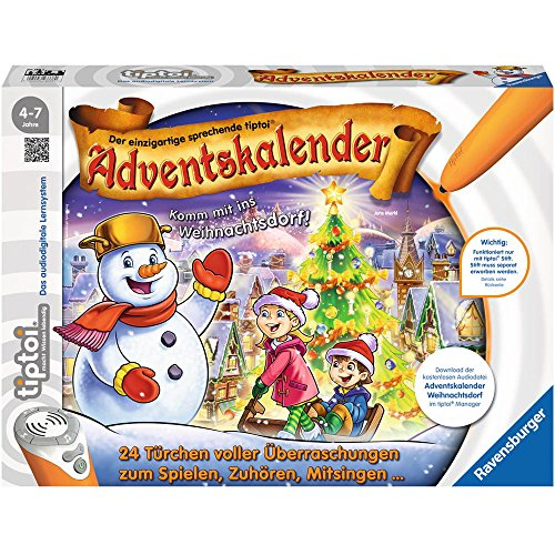 Ravensburger 00778 tiptoi Adventskalender - das Weihnachtsdorf