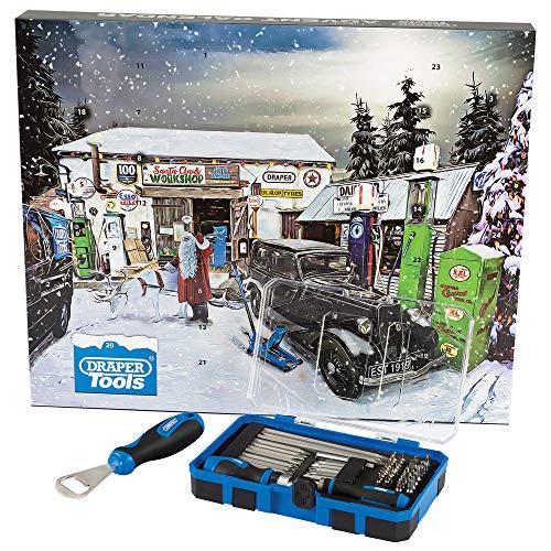 Draper 90461 Werkzeug-Adventskalender, 55-teilig, Blau
