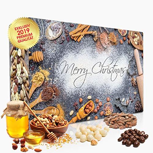 C&T Knusperkalender Classic 2019 - Adventskalender - 24 leckere Knabbereien für den Advent mit 24 Mischungen aus Mandeln, Cranberries, Erdnüssen, und anderen Snacks