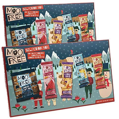 Adventsmischung mit veganer Schokolade 2er-Set MooFree 210g mit milchfreier Schokolade