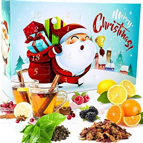 C&T Tee Adventskalender 2021 für Kinder   24 à 25 g koffeinfreien & losen Früchte + Rooibos + Kräutertees für die ganze Familie