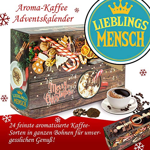 Lieblingsmensch - Advent Kalender Aromakaffee - Kalender Advent Frauen Kalender Advent Männer Kalender Advent Arabica Bohnen Adventskalender Arabica Bohnen Adventskalender Flavoured Coffee
