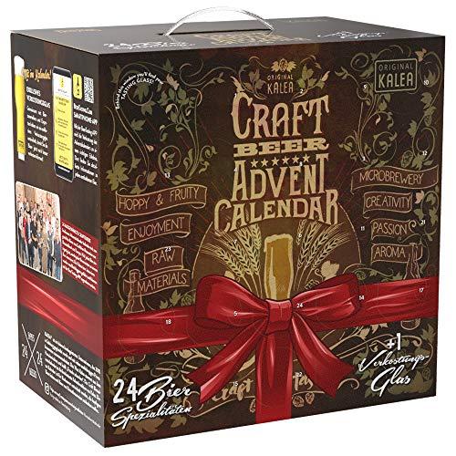 Kalea Craft Beer Adventskalender, neue Bestückung 2020, 24 x 0,33 l Craft Bier, Geschenkidee zur Vorweihnachtszeit für Männer, inklusive Sondersude, limitierte Auflage